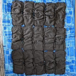 15 Cloth Diaper Charcoal Gusetted Inserts